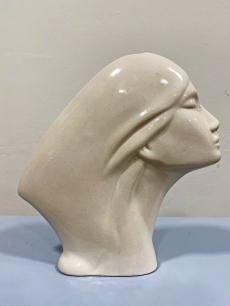 Art deco stílusú fej váza