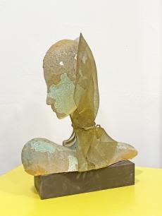 Laborcz Mónika - porcelán női büszt szobor - Mona