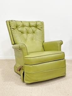 Zöld, vintage pihenőfotel