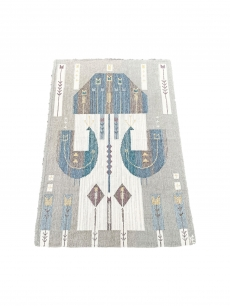 Németh Éva nagy méretű iparművészeti kézi szőttes faliszőnyeg