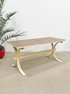 Márványlapos design dohányzó asztal