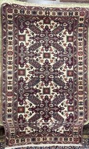 Kereszt mintás kézi perzsa szőnyeg