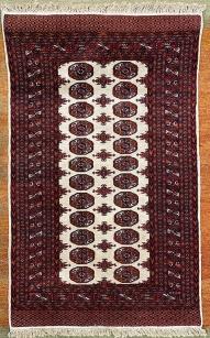 Dupla sor medalion mintás kézi kaukázusi szőnyeg