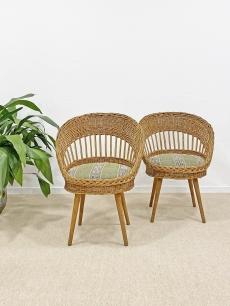 Fonott romantikus szék pár - 1980 körül